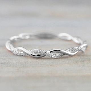 ツイストリング ring 指輪 ウェーブ シルバー(リング(指輪))