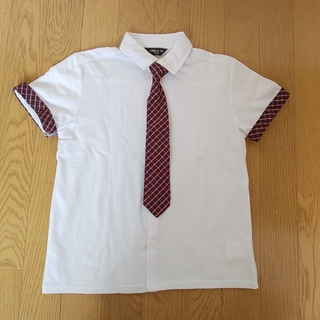 コムサイズム(COMME CA ISM)のネクタイ付ポロシャツ(ブラウス)