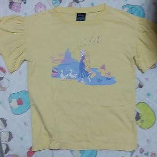 ジーユー(GU)のGU ラプンツェル 140cm Tシャツ 黄色(Tシャツ/カットソー)