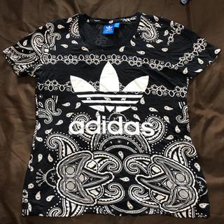 adidas - adidasアディダスレアペイズリー柄Tシャツ!
