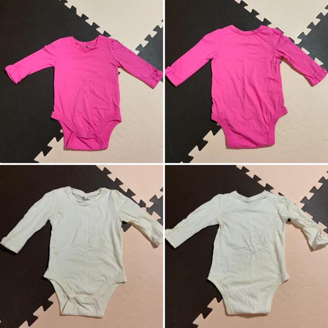 babyGAP(ベビーギャップ)の女の子 80 ロンパース 長袖 まとめ売り キッズ/ベビー/マタニティのベビー服(~85cm)(ロンパース)の商品写真