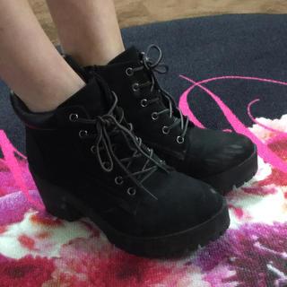 ❤️送料込み❤️厚底ブラック ブーツ  (ブーツ)