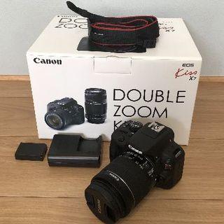Canon - Canon EOS Kiss X7 ダブルズームキット 16GBSDカード付き