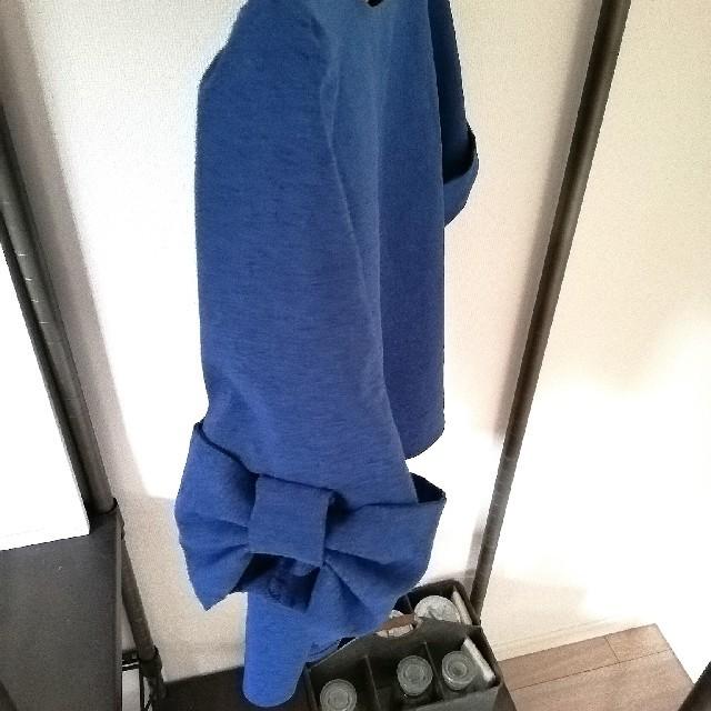 しまむら(シマムラ)のブルーのトップス レディースのトップス(カットソー(半袖/袖なし))の商品写真