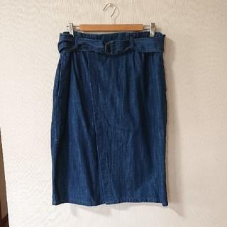 シマムラ(しまむら)の大きいサイズ しまむら デニムタイトスカート(ひざ丈スカート)