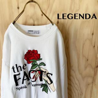【希少】LEGENDA ビッグ 薔薇刺繍 ルーズシルエット ビッグ スウェット
