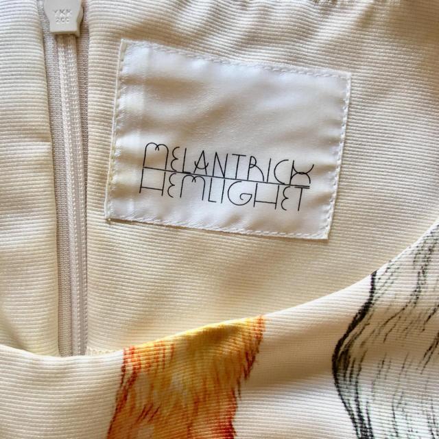 H.P.FRANCE(アッシュペーフランス)のメラントリックヘムライト  尻尾 ワンピース ヒグチユウコ コラボ レディースのワンピース(ひざ丈ワンピース)の商品写真
