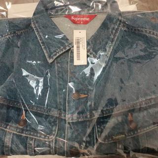 Supreme - New York Painted Trucker Jacket 青 Sサイズ