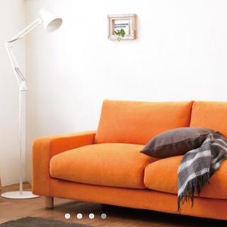 ムジルシリョウヒン(MUJI (無印良品))の新品未使用 無印良品 3シーター ソファカバー・ヘッドレストカバー×2 オレンジ(ソファカバー)