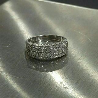 Pt900 プラチナ リング メレダイヤ 0.50ct(リング(指輪))