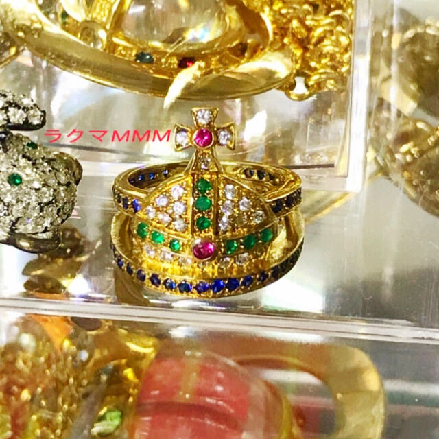 Vivienne Westwood(ヴィヴィアンウエストウッド)のマルチカラー オーブ リング/silver 925/ゴールド レディースのアクセサリー(リング(指輪))の商品写真