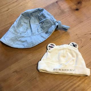 バーバリー(BURBERRY)のベビーハット  2枚セット  バーバリー・ラルフローレン(帽子)