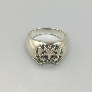 アガット(agete)のagete アガット シルバー リング13号 シグネット 紋章 ダイヤモンド?(リング(指輪))