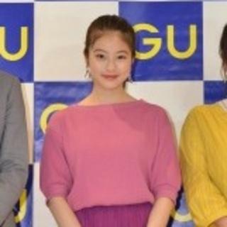 ジーユー(GU)の今田美桜さん着用☆gu☆ワッフルオーバーサイズT(5分袖)☆ピンク☆Sサイズ(Tシャツ(半袖/袖なし))