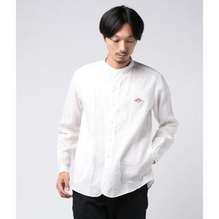 DANTON - ダントン DANTON / ロゴワッペンバンドカラーシャツ