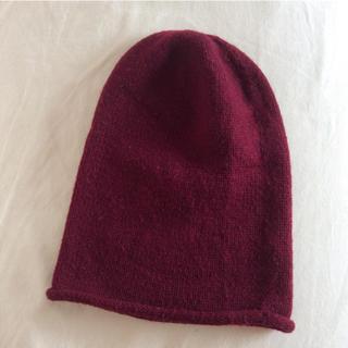 エイチアンドエム(H&M)のニット帽 ワインレッド(ニット帽/ビーニー)