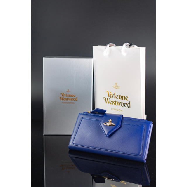 Vivienne Westwood(ヴィヴィアンウエストウッド)の【ボーナス割】新品未使用 ヴィヴィアンウエストウッド スリム 長財布 レディースのファッション小物(財布)の商品写真