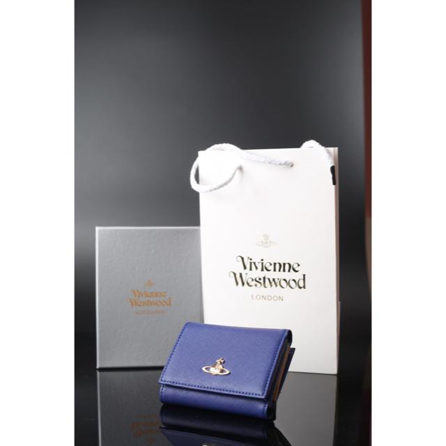 Vivienne Westwood(ヴィヴィアンウエストウッド)の【ボーナス割】新品未使用 ヴィヴィアンウエストウッド 折りたたみ財布 ブルー レディースのファッション小物(財布)の商品写真