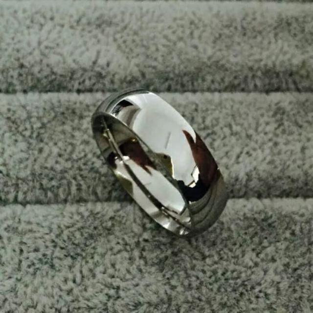 シンプルラウンドリング☆シルバー メンズのアクセサリー(リング(指輪))の商品写真