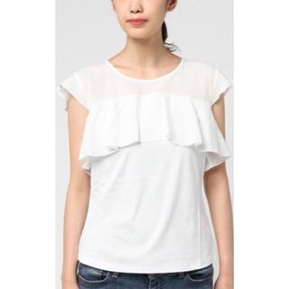 エポカ(EPOCA)のお値下げ!エポカザショップ  異素材 ミックス Tシャツ サイズ40(Tシャツ(半袖/袖なし))