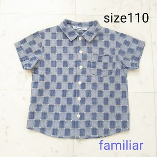 ファミリア(familiar)のfamiliar ☆  半袖 シャツ  110(ブラウス)