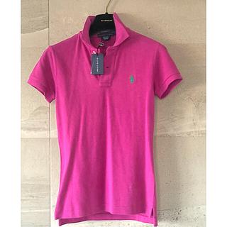 ラルフローレン(Ralph Lauren)の新品タグ付♡ラルフローレン ポロシャツ レディース ピンクパープル×グリーン(ポロシャツ)