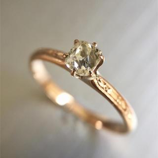 「天然ダイヤモンド」アンティーク指輪!