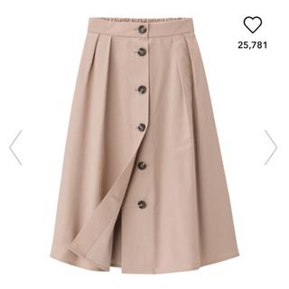 ジーユー(GU)のフロントボタンフレアスカート(ひざ丈スカート)