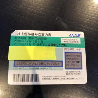 エーエヌエー(ゼンニッポンクウユ)(ANA(全日本空輸))のANA株主優待券未使用(航空券)