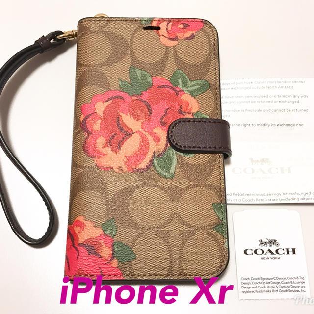 COACH - 新品 正規品  COACH コーチ iPhone Xr 手帳型 ケース 花柄の通販 by shop|コーチならラクマ