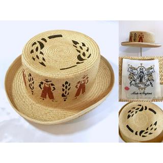 ジャーナルスタンダード(JOURNAL STANDARD)のジャーナル購入◆FRED BARE◆英国製 ストローハット 帽子 レディース(麦わら帽子/ストローハット)