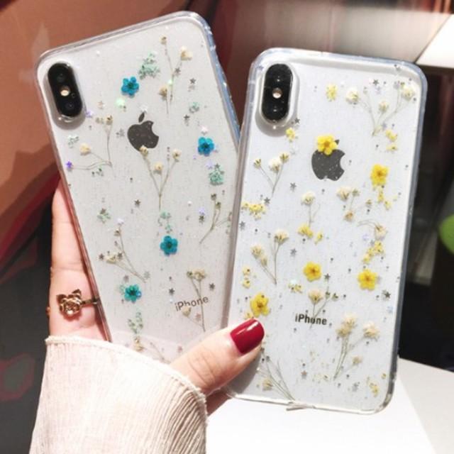 iphone7 ケース ナイキ amazon | iPhoneケース ハンドメイド 花柄 ブルー 6s/7/8/x/xs/xrの通販 by comcom'shop|ラクマ