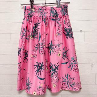 ザラキッズ(ZARA KIDS)のZARAキッズ 128 フラワー  花柄 スカート ピンク(スカート)