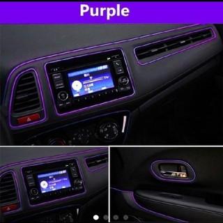 【紫】カーインテリアモール 長さ5m 幅2mm  取付用ヘラ付属
