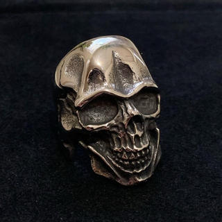 STAINLESS STEEL ドクロリング 骸骨 シルバー(リング(指輪))