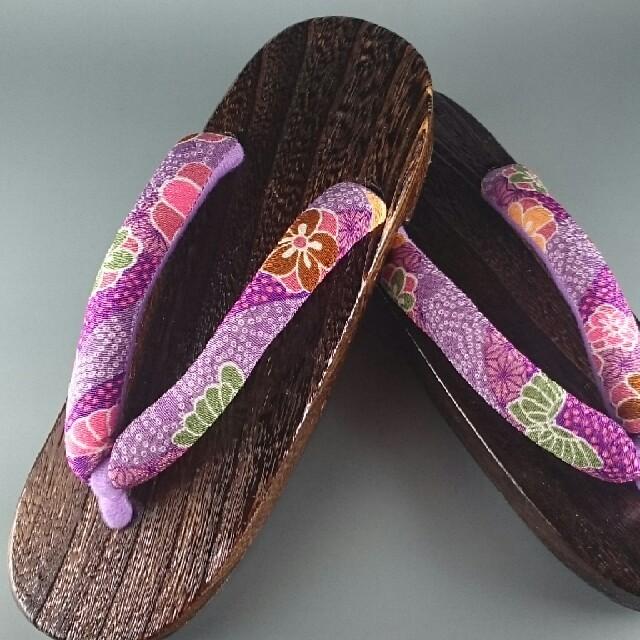 浴衣 下駄 草履桐焼下駄  茶色  24~26.5cm 新品 浴衣 履きやすい❗ レディースの靴/シューズ(下駄/草履)の商品写真