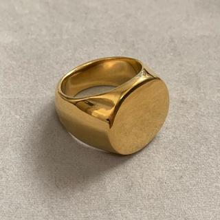 高品質STAINLESS STEEL カレッジリング 丸型 ゴールド