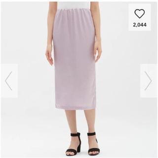 ジーユー(GU)のGU サテンタイトミディスカート(ひざ丈スカート)