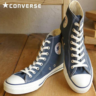 コンバース(CONVERSE)の24.5cm♡   コンバース  ハイカット ネイビー(スニーカー)