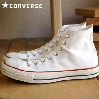 コンバース(CONVERSE)の25.0cm♡  コンバース オールスター ハイカット オプティカルホワイト(スニーカー)