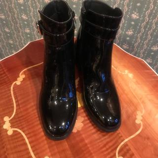 エナメルブーツ 24.5cm 未使用(ブーツ)