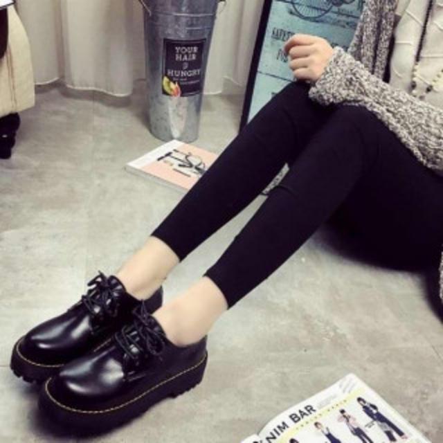 美脚♪厚底が可愛い ローカットローファー マーチン 好きに♪24.5㎝ レディースの靴/シューズ(ローファー/革靴)の商品写真