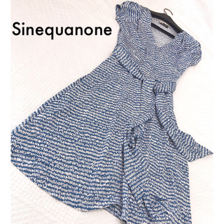 Sinequanone - 新品*Sinequanone セイクアノン*カシュクールワンピース