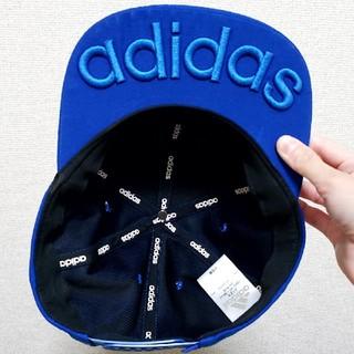 adidas - adidas アディダス ストレートキャップ カラーキャップ 青 ブルー