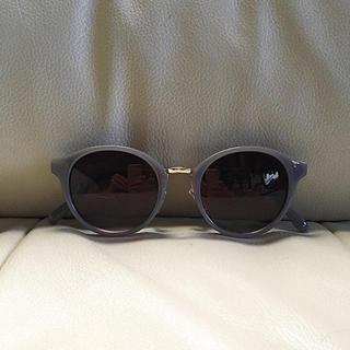高級 ボストン ブルーレンズ カラーレンズ サングラス メンズ カラーサングラス(サングラス/メガネ)