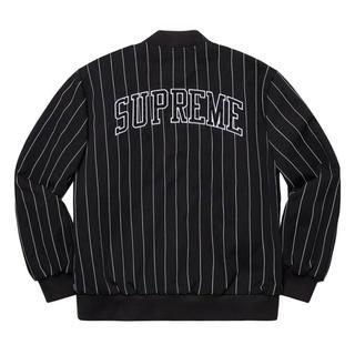 シュプリーム(Supreme)のSupreme Pinstripe Varsity Jacket 19ss(ブルゾン)