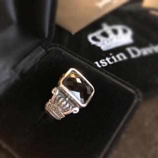 ジャスティンデイビス(Justin Davis)のJustin Davisジャスティン デイビス★リング★指輪★12号★オニキス黒(リング(指輪))