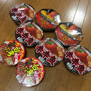 ニッシンショクヒン(日清食品)の辛いカップラーメン8個(インスタント食品)