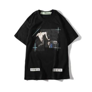 OFF-WHITE - 【今だけ激安!!】メンズ  ブラック OFF-WHITE  Tシャツ【Lサイズ】