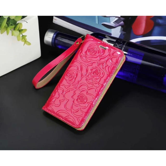 iPhone XR スマホカバー スマホケース 花柄 エンボス 手帳型の通販 by D shop|ラクマ